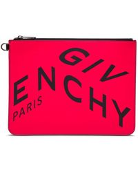Givenchy POUCH LEATHER FRAGMENT - Rosso