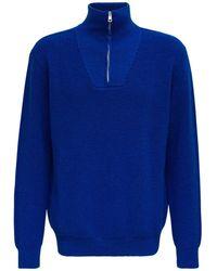 Roberto Collina Ette Wool Pullover - Blue