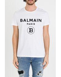Balmain T-shirt With Classic Logo Print - Multicolour
