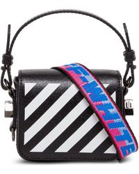 Off-White c/o Virgil Abloh Diagonal Leather Crossbody Bag - Black
