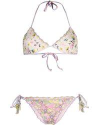 Anjuna Floral Reversible Bikini - Pink