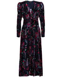 Isabel Marant MOYRANID PRINTED VELVET DRESS - Multicolore