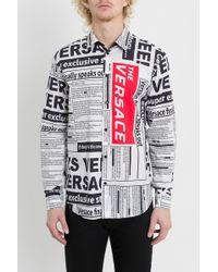 2364858f72eb Versace - Long Sleeve Shirt Dress Shirt - Lyst
