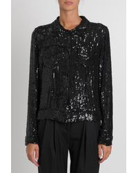 P.A.R.O.S.H. Goody Sequined Shirt - Black