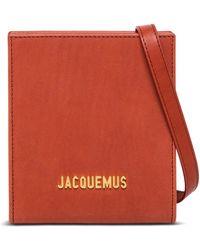 Jacquemus Borsa a tracolla le gadjo in pelle color mattone - Rosso