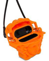 Versace La Medusa Wirless Earphones Case - Orange