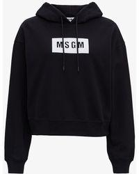 MSGM Felpa con Logo - Nero