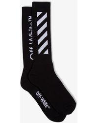 Off-White c/o Virgil Abloh Diagonals Socks - Black