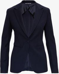 Tonello Single Breasted Blue Blazer In Wool Blend