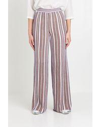 M Missoni Pantalone in Maglia Lurex - Multicolore