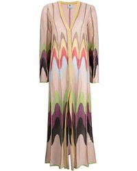 M Missoni Cardigan Lungo Multicolor di Viscosa - Multicolore