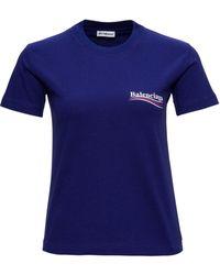 Balenciaga T-shirt Political Logo - Blu