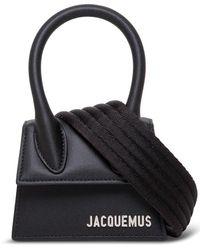 Jacquemus Le Chiquito Homme Leather Crossbody Bag - Black