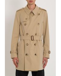 Burberry Short Chelsea Fit Trench Coat - Natural