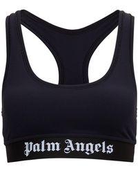 Palm Angels Top Sportivo con Logo - Nero