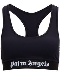 Palm Angels Sports Top With Logo - Black