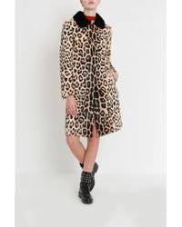 RED Valentino - Animalier Printed Fur Coat - Lyst