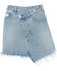 Gcds Denim Skirt - Blue