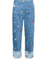 Gcds Kitty Boyfriend Jeans - Blue