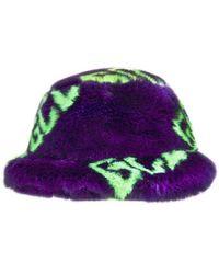Gcds Logo Fur Hat - Purple