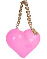 Gcds Muse Heart Clutch Bag - Pink