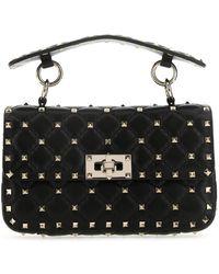 Valentino Garavani - Nappa Leather Small Rockstud Spike Handbag Donna - Lyst