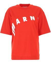 Marni - Cotton Oversize T-shirt Donna - Lyst