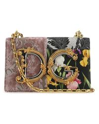 Dolce & Gabbana - Multicolor Fabric And Leather Dg Girls Shoulder Bag Nd Donna - Lyst