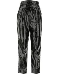 ROTATE BIRGER CHRISTENSEN Synthetic Leather Wilde Pant - Black