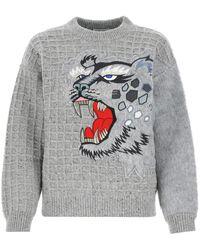 KENZO - Melange Wool Blend Sweater Donna - Lyst