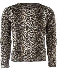 Saint Laurent Embroidered Woole Blend Sweater - Multicolor