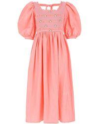 Miu Miu Pink Silk Dress Nd