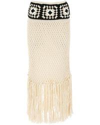 Alanui Sand Cotton El Paso Skirt - Natural