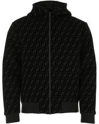 Fendi Black Neoprene Jacket Nd Uomo