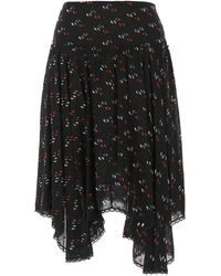 See By Chloé Black Viscose Blend Skirt
