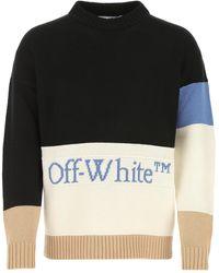 Off-White c/o Virgil Abloh Multicolor Wool Sweater - Black