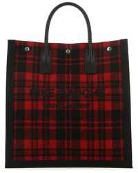 Saint Laurent Embroidered Fabric Shopping Bag Nd Uomo