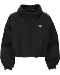 Prada Black Re-nylon K-way Nd