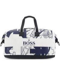 BOSS by Hugo Boss Printed Fabric Tokyo Holdall Travel Bag - Multicolour