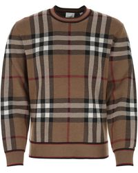 Burberry Embroidered Wool Sweater - Multicolor