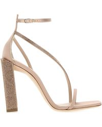 Sebastian Powder Pink Satin Sandals Nd Donna - Multicolor