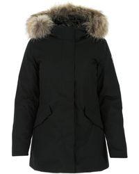 Woolrich Nylon Down Jacket Donna - Black