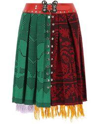 Chopova Lowena Multicolor Cotton And Wool Skirt S