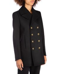 Saint Laurent Black Wool Coat