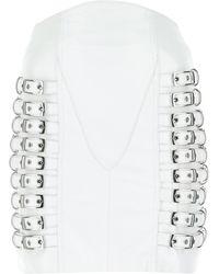 Manokhi Nappa Leather Tanni Mini Skirt Donna - White