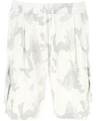 Dolce & Gabbana Printed Cotton Bermuda Shorts Nd Uomo - White