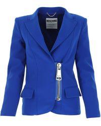 Moschino Electric Polyester Blend Blazer - Blue
