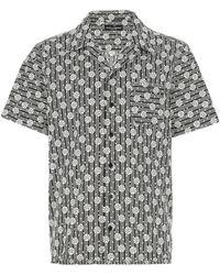 Dolce & Gabbana Popeline Shirt Uomo - Multicolor