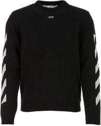 Off-White c/o Virgil Abloh Cotton Blend Sweater - Black
