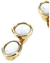 Loewe Gold Metal Double Tree Earrings Nd - Metallic